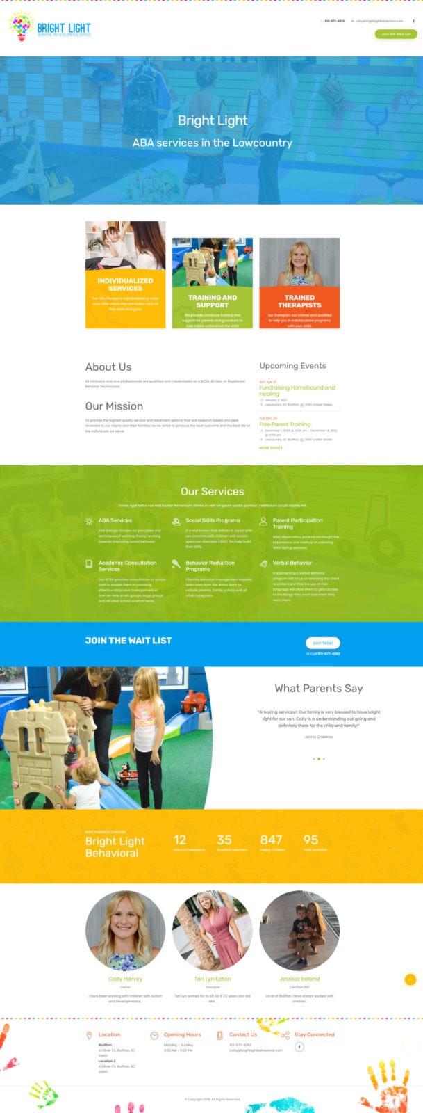 Brightlight Behavioral Website Homepage