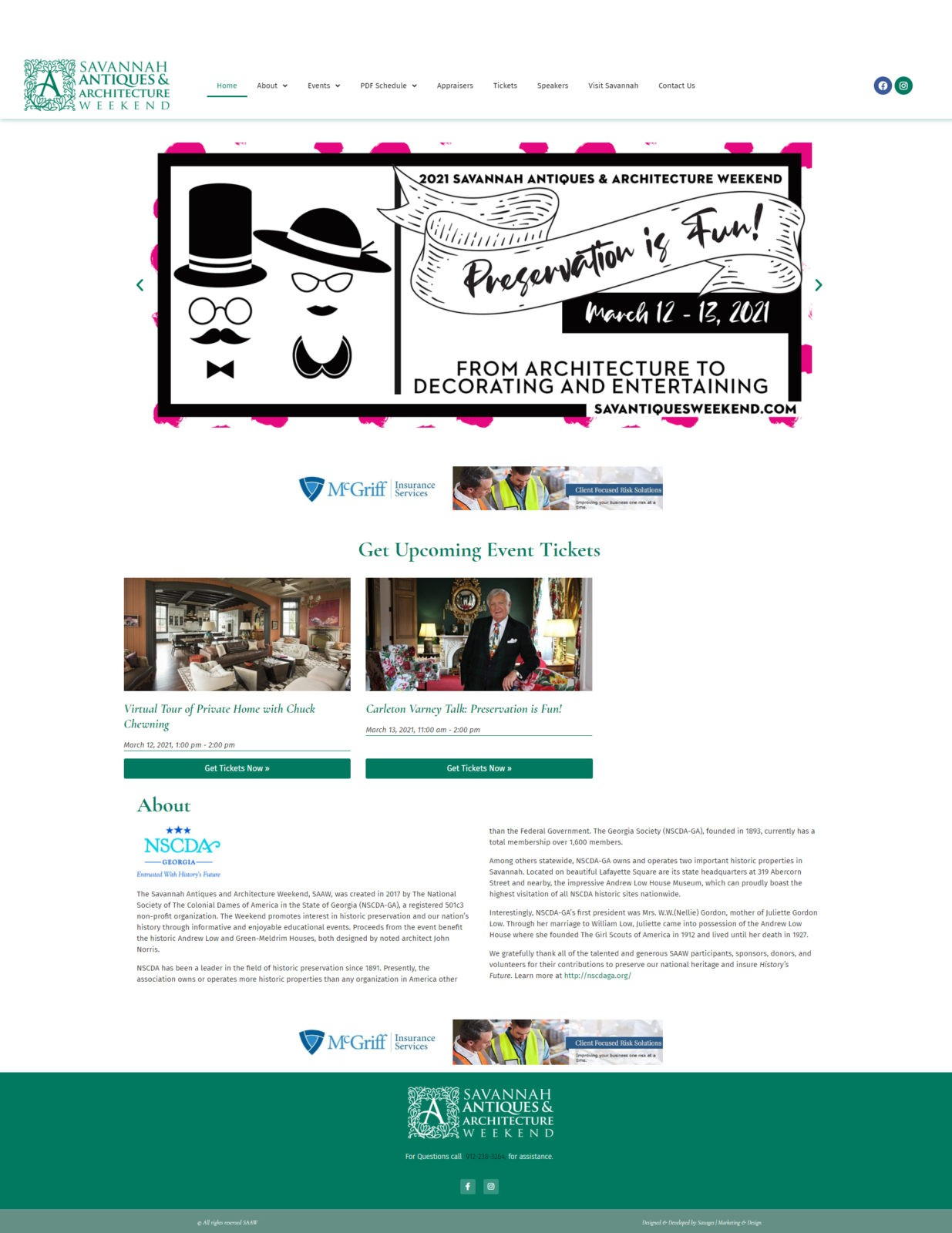 Savannah Antiques & Architecture Weekend Website
