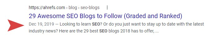 Awesome SEO Meta Example