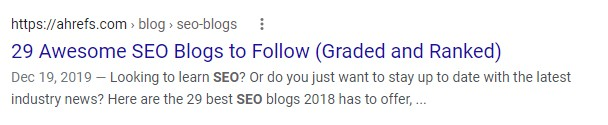 Awesome SEO example